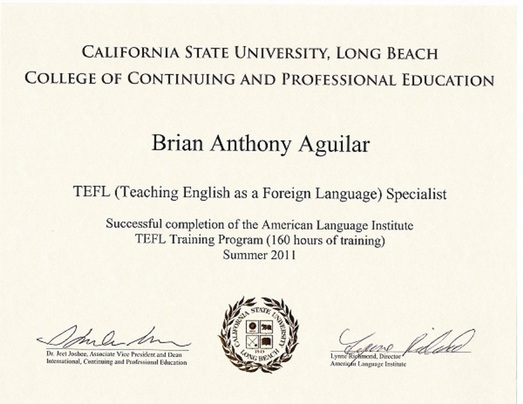 degree / certificate - online english teacher